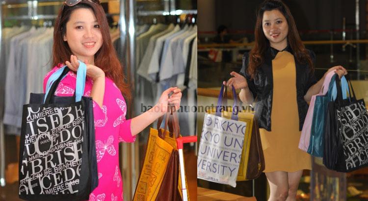 cô gái đam mê bán túi vải không dệt