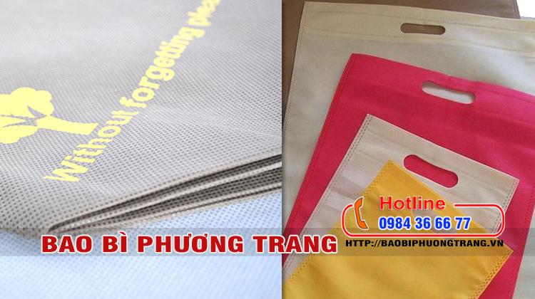 nguyên liệu sản xuất túi vải không dệt