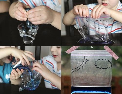 thí nghiệm túi nilon và vòng đời của nước