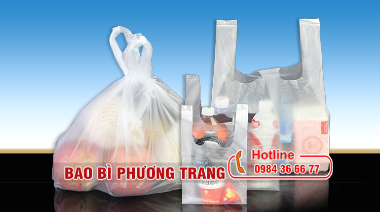túi nilon siêu thị và cửa hàng